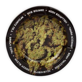 Cenicero Metálico Con Cogollos De Marihuana