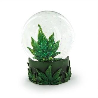 Globo de Nieve Hoja de Cannabis