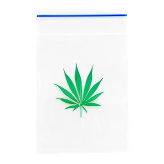Bolsas Resellables con Hoja de Marihuana (100 pcs)