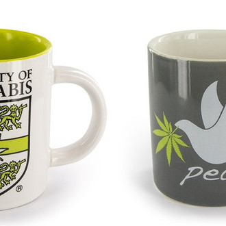 Taza de Café con Diseño Cannabis