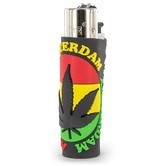 Lighter Clipper Rasta Leaf