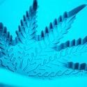 Molde de silicona con forma de hoja de marihuana