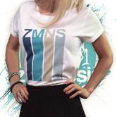 Camiseta Manga Vuelta Retro   Mujer