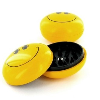 Grinder de plástico Smiley (2 piezas)