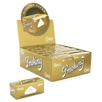 Papel de liar Smoking Gold en rollo