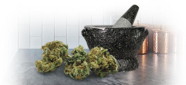 Picar Marihuana: Maza Y Mortero