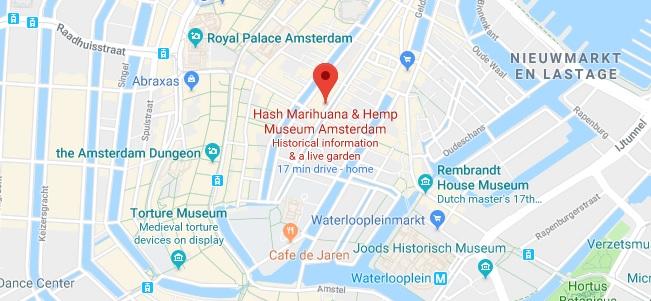 Ubicación Y Dirección - Museo De La Marihuana De Ámsterdam
