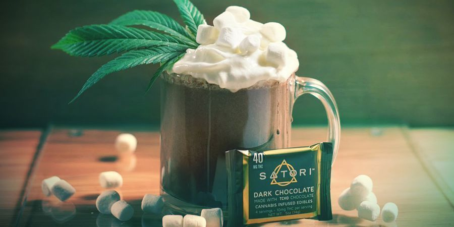 CHOCOLATE CALIENTE CON CANNABIS