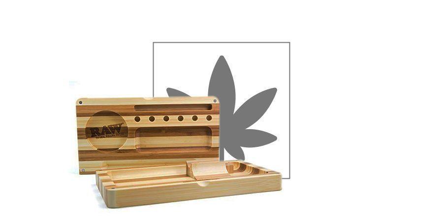 Bandeja de Liar de Bambú RAW (3 partes)