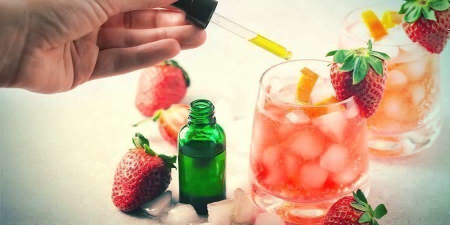 Mezcla El Aceite De CBD Con Bebidas