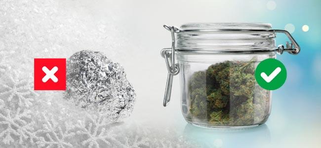 Congelar Vs Tarro De Cristal Hermético Hierba