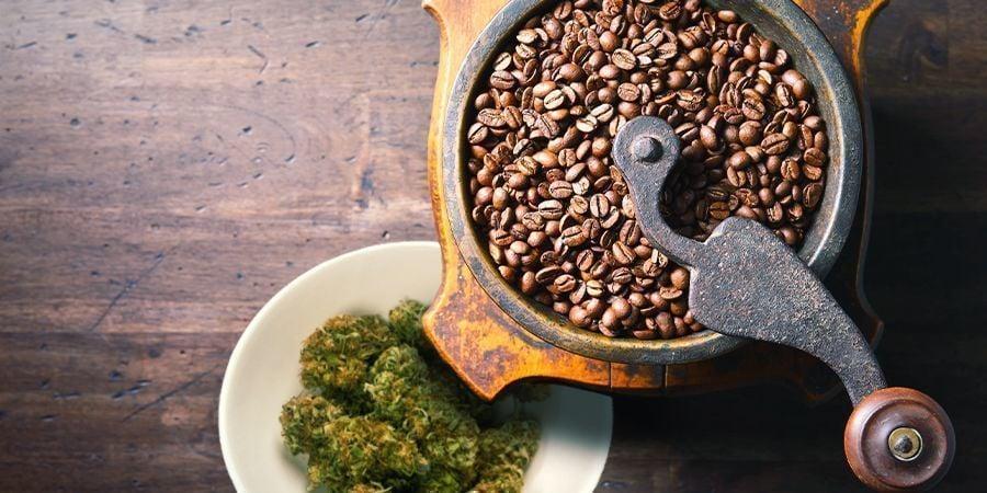 PREPÁRATE CAFÉ CON MARIHUANA CON UN MOLINILLO DE CAFÉ