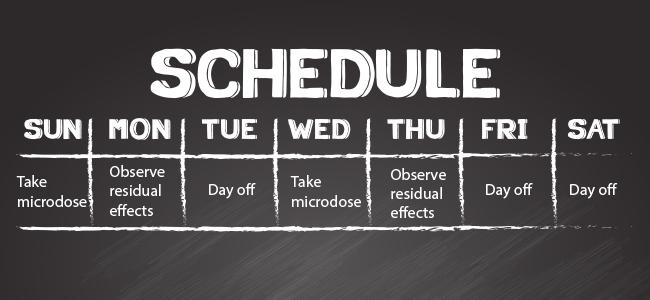 Calendario Microdosificación