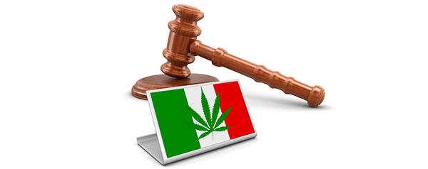 Législación en torno a la marihuana en Italia