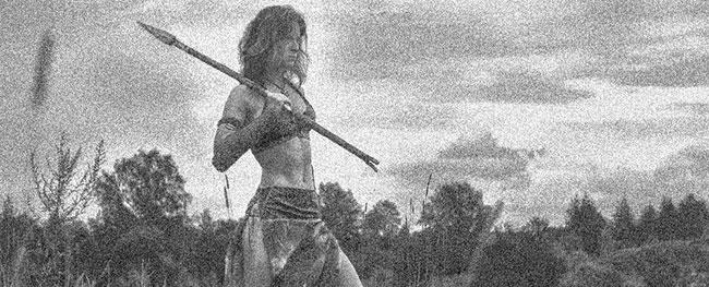 Una mujer de Scythia que lucha