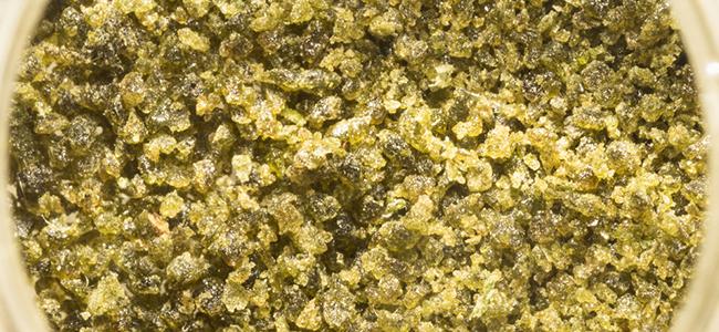 bubble hash de tallos de marihuana