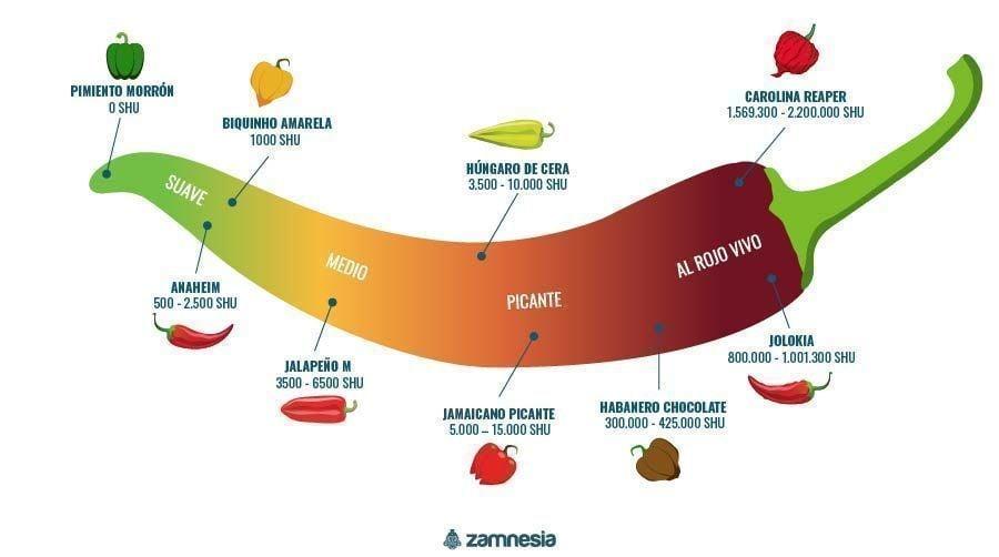 Pimientos Picantes Infografia