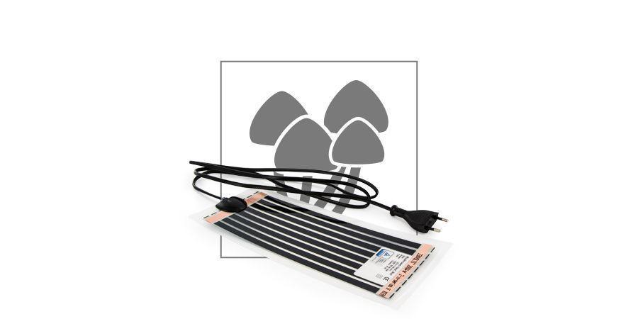 Esterilla calefactora para setas con infrarrojos