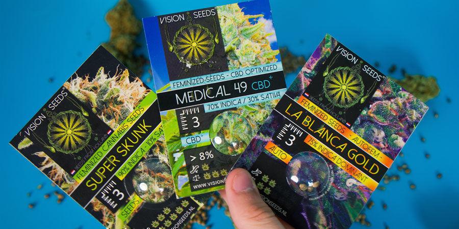 ¿Cómo Se Empaquetan Las Semillas De Marihuana Vision Seeds?