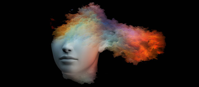 Cerebro creativo después de tomar shrooms