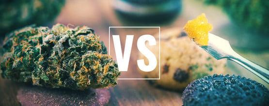 Cogollos Frente A Comestibles Y Concentrados: ¿Qué Es Mejor?