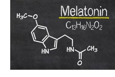 Melatonina estructura química