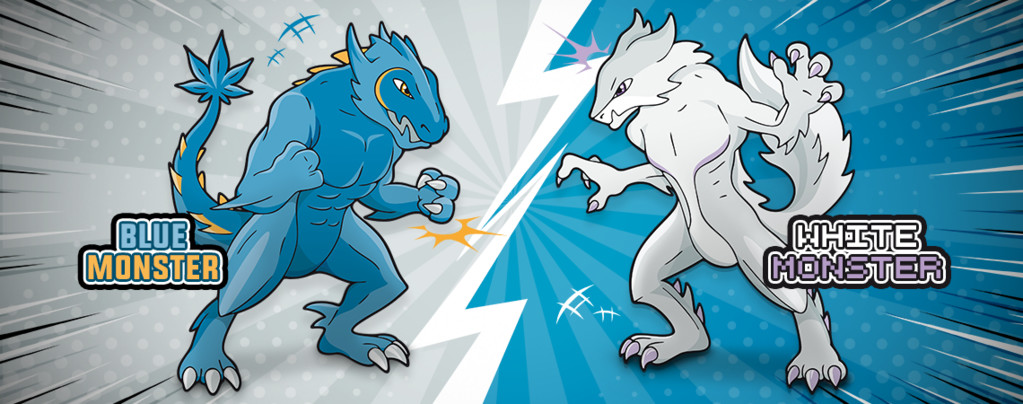 Blue Monster vs White Monster