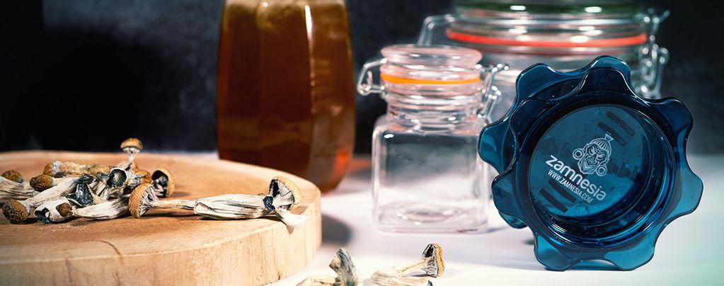 Miel Azul: Miel Alucinógena con Setas Mágicas