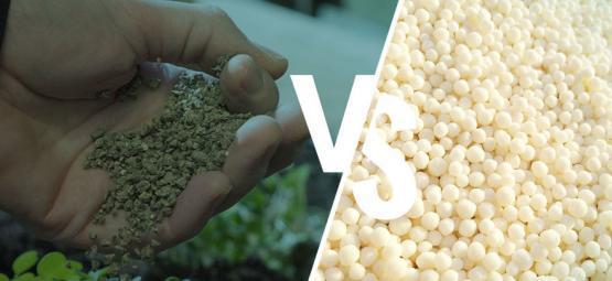Diferencia: Fertilizantes Sintéticos Vs Naturales